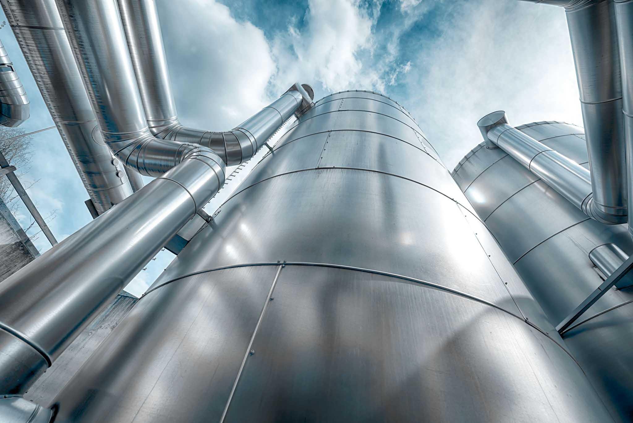 Pufferspeicher Biogas