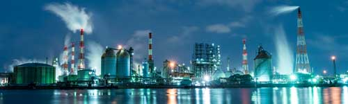 Panorama von Energieunternehmen