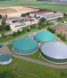 Biogasanlage von oben