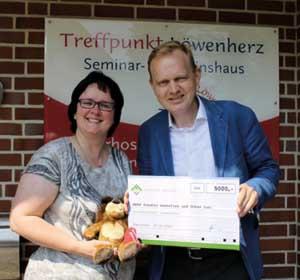 Spendenübergabe Kinderhospiz Löwenherz