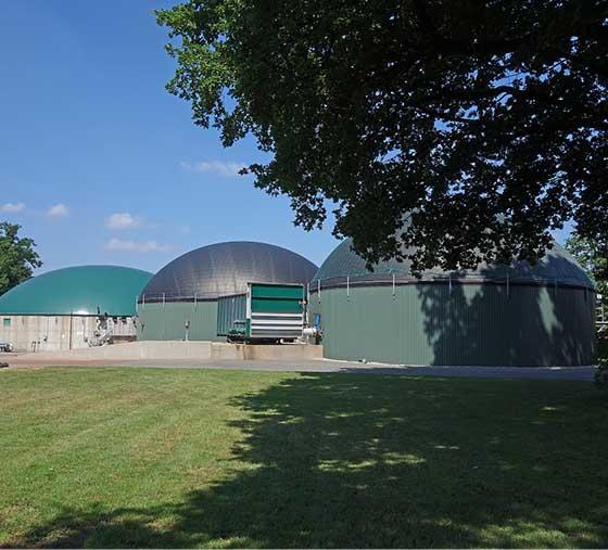 Idylle Heek - Eine Vorzeigebiogasanlage