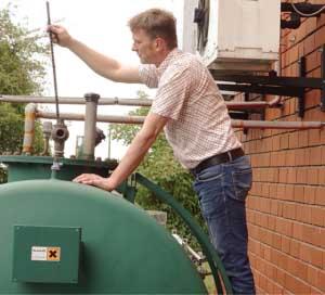 Tank für Zündöl