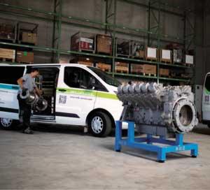 MDE Service Halle mit Motor